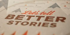 Swink | Print | Let's Tell Better Stories #print #promotional #collateral