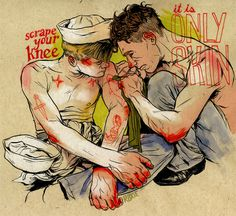 (Roxie Vizcarra) #sailors #illustration #male #painting #navy