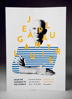 "Amanda Berglund  |  http://amandaberglund.com""A poster for a Jean Paul Gaultier exhibit from which vernissage cards can be pulled off. #illustration #branding #typography"