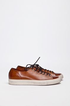 Buttero Tanino Low Leather Brown | TRÈS BIEN #sneakers #shoes #leather #italian #buttero