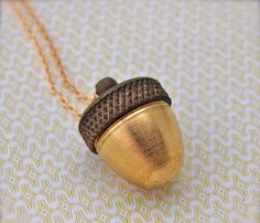 Acorn Canister Necklace twists off revealing the perfect little place for special keepsake. Love it! #treasure