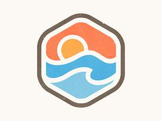 Sunrise Badge by Yoga Perdana #logo #design #badge