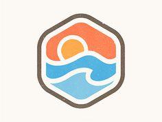 Sunrise Badge by Yoga Perdana #logo design #badge