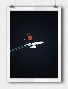 iconic spaceships - by tidi #StarTrek #GeekArt #enterprise #iconic #Spaceship #illustration