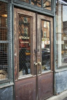 Stock Vintage. | A Continuous Lean. #door