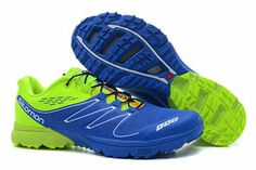 Salomon Footwear-S LAB Sense Ultra Outdoor volt green blue trail running sneakers