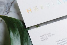 Hessian Magazine by Dylan McDonough #print #design #business #card #graphic #gradient