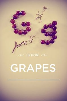 Typefruitography | // The Chic-Type Blog #typography #photography #fruit #grapes