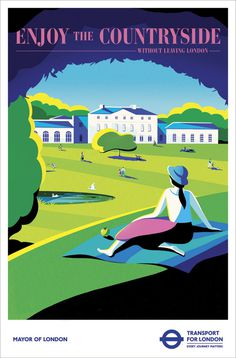 Transport for London - Kenwood House Heres my poster created for TFLs Without Leaving London campaign which went live at the beginning o #illustration