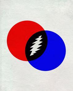 #Grateful Dead Poster #posterdesign #minimalistic