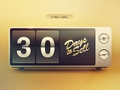Dribbble - Days to Sell by Eddie Lobanovskiy #clock