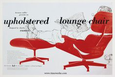Eames Lounge Chair Herman and Miller Ad