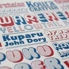 Kaimoana Letterpress Print - Prints | endemicworld.com #type #letterpress #zaland #new