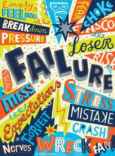 Failure #inspiration #creative #lettering #design #artists #art #hand #typography