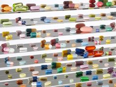 Death becomes him: Damien Hirst at Tate Modern – in pictures | Art and design | guardian.co.uk #pills #hirst #art