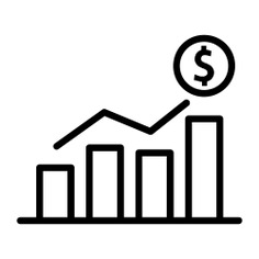 See more icon inspiration related to money, graph, graphic, coin, business, statistics, stats, finances, coins, profits, bars, growing and business and finance on Flaticon.