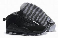 Nike Air Jordan 10 Retro Black/Grey Men's #shoes