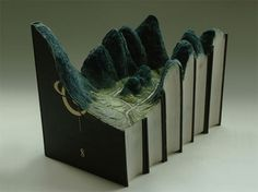 Whiteboard Journal • Carved Books by Guy Laramee #carving #landscape #books