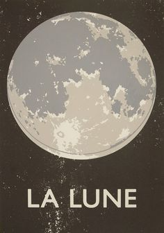 Double Merrick | La Lune Screenprint #print #screen #lune #la #poster #moon