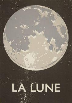 Double Merrick | La Lune Screenprint #print #screen #lune #la #poster #moon