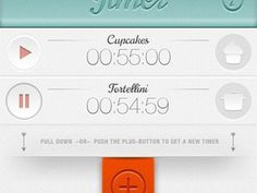 Dribbble - Timer by shurt Apps by Georg Bednorz