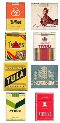 Awesome Vintage Cigarette Package Designs #packaging #vintage #cigarettes