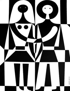 Alexander Girard, Black and White, 1971, Herman Miller #girard