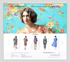 YO Vintage Website | Namesake #fashion #layout #design #web