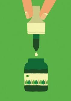coqueterías - quierohablarconelgerente: FFFFOUND! | adrian... #print #green
