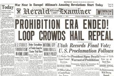 Prohibition was ended by the passage of the 21st Amendment to the U. S. Constitution on December 5. Ten days later, alcohol was legal again #beer #newspaper #vintage #prohibition