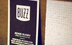 FPO: Buzz Studios Business Cards #business #print #screen #silk #cards