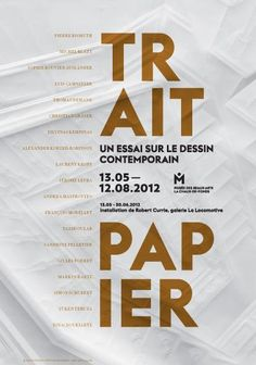 Trait paper, an essay on contemporary drawing