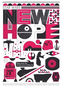 Star Wars A New Hope Retro Scandinavian style poster by handz