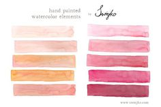 Watercolor - Stripes - Illustrations
