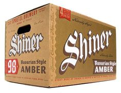Shiner Bavarian Amber Case #packaging #beer #label