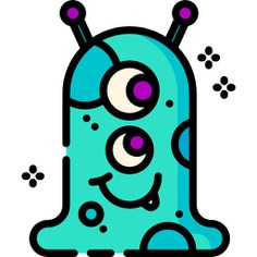 See more icon inspiration related to monster, alien, horror, sci fi, cyclops, spooky, Science fiction, terror, miscellaneous, scary, fear, extraterrestrial and nature on Flaticon.