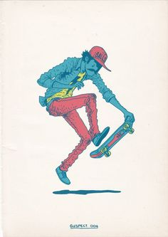 Skateboarding is a Crime by Gerhard Human , via Behance #skateboard