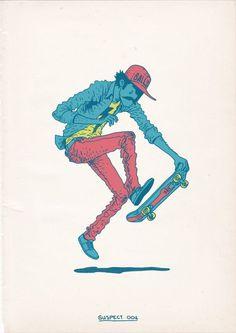 Skateboarding is a Crime by Gerhard Human , via Behance #skateboard