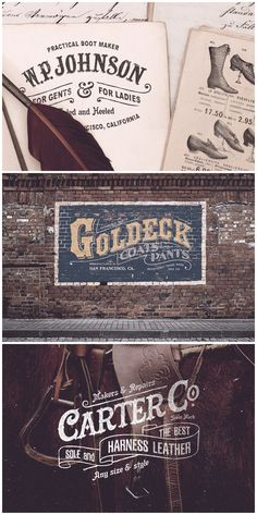 19th Century Vintage Logos 01  Inspired from the 19th century era, this carefully crafted logo templates will add a vintage yet fresh touch