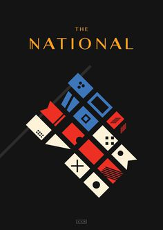 The National, by James Kirkup http://james-kirkup.com/ #4ad #red #white #flag #print #yellow #type #black #the #blue #sailing #poster #usa #america #sail #national #flags #grey