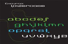 Type | Alyssa George Design #font #electro #lowercase #techno #design #typeface #typography