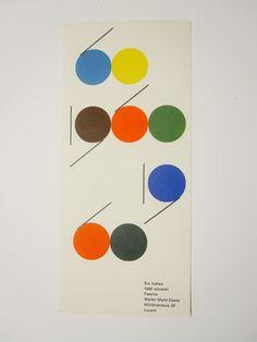 Más tamaños | New Year card by Walter Marti, 1960 | Flickr: ¡Intercambio de fotos!