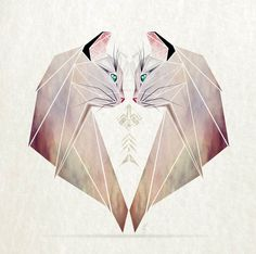 Inspired By Tangram, I Started Creating Geometric Illustrations Of Animals #cat #animal #illustration