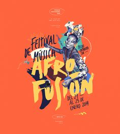 AFRO FUSION FESTIVAL color, illustration