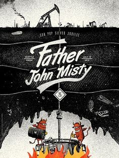 GigPosters.com Father John Misty #screen print #gigposter