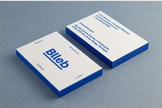 Blleb Letterpress Business Card on Behance