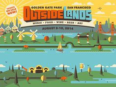 Outside Lands 2014 Branding #illustration