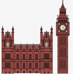 FFFFOUND! | Big Ben and Houses of Parliament. Crazy detail = crazy hours ... on Twitpic