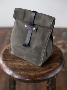 Artifact Bag Co. — No. 215 #handmade #leather #crafts #lunch bag
