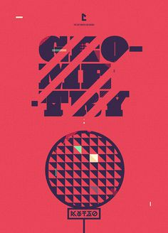 Geometry #red #geometry #design #direction #shape #poster #art #type